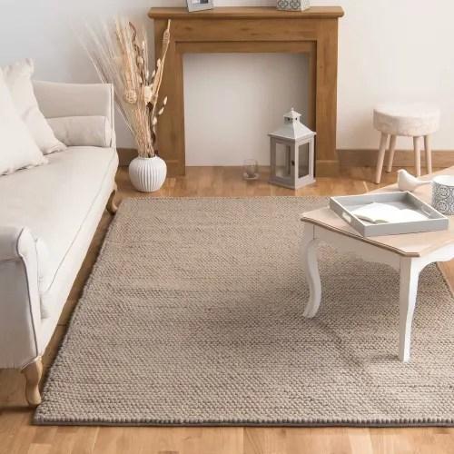 tapis en laine beige 200 x 300 cm maisons du monde