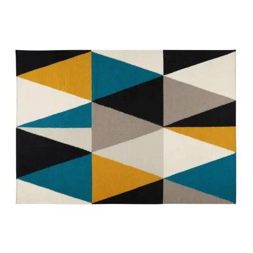 tapis en laine motifs graphiques 160x230cm maisons du monde