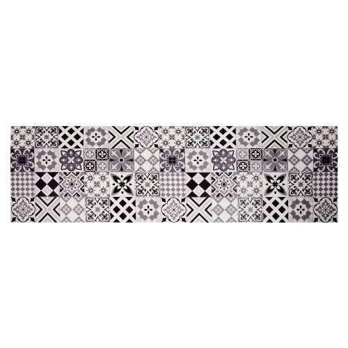 tapis en vinyle motifs carreaux de ciment 60x199 maisons du monde