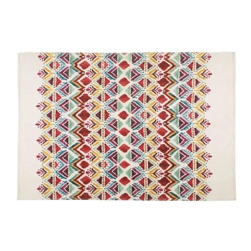 tapis imprime multicolore 140x200 maisons du monde