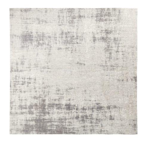tapis tisse jacquard gris 200x200 maisons du monde