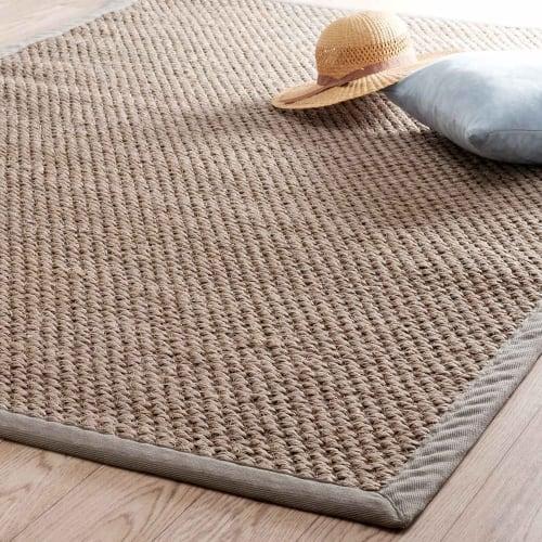 tapis tresse en sisal beige 140x200 maisons du monde