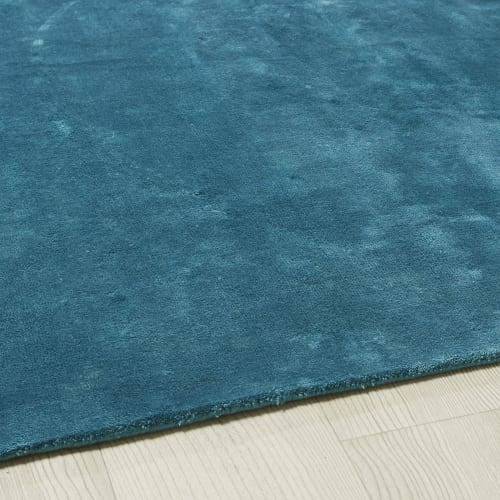 tapis tufte bleu canard 160x230 maisons du monde