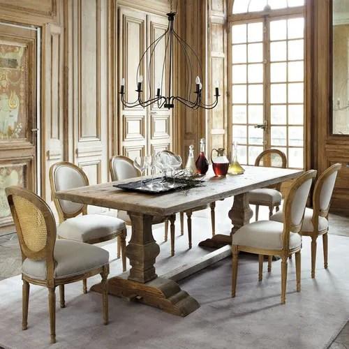Tavolo Per Sala Da Pranzo In Legno Effetto Anticato L 220 Cm