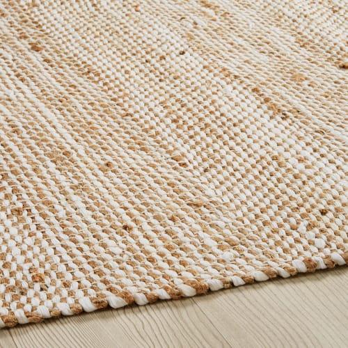 teppich aus baumwolle und jute beige 200 x 300 cm maisons du monde