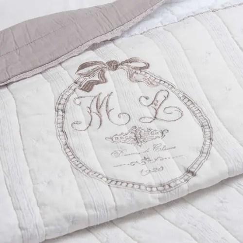 Trapunta bianca in cotone 240 x 260 cm clémence su maisons du monde. Trapunta Bianca In Lino 240 X 260 Cm Sorel Maisons Du Monde