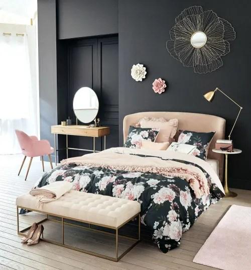 Trapunta in cotone rosa e nera motivo floreale, 100x200 cm alba su maisons du monde. Trapunta In Cotone E Lino Rosa 100x200 Hannah Maisons Du Monde