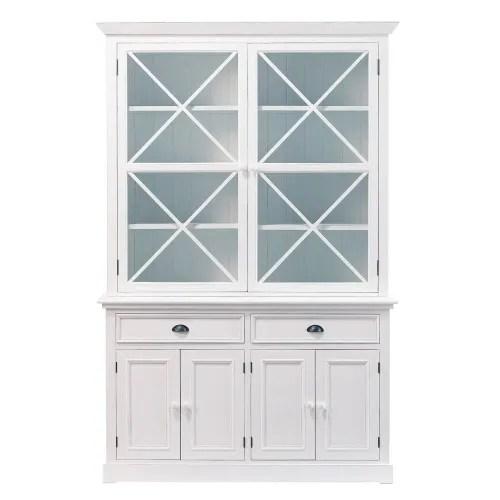 vaisselier 6 portes 2 tiroirs blanc maisons du monde