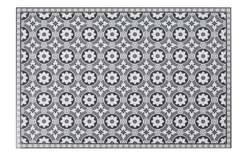 vinyl teppich mit zementfliesen motiven 100x150 maisons du monde