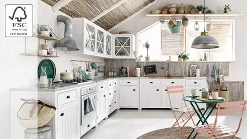 Appendino due ganci stile shabby chic bianco disegno cuore. Cucina Maisons Du Monde