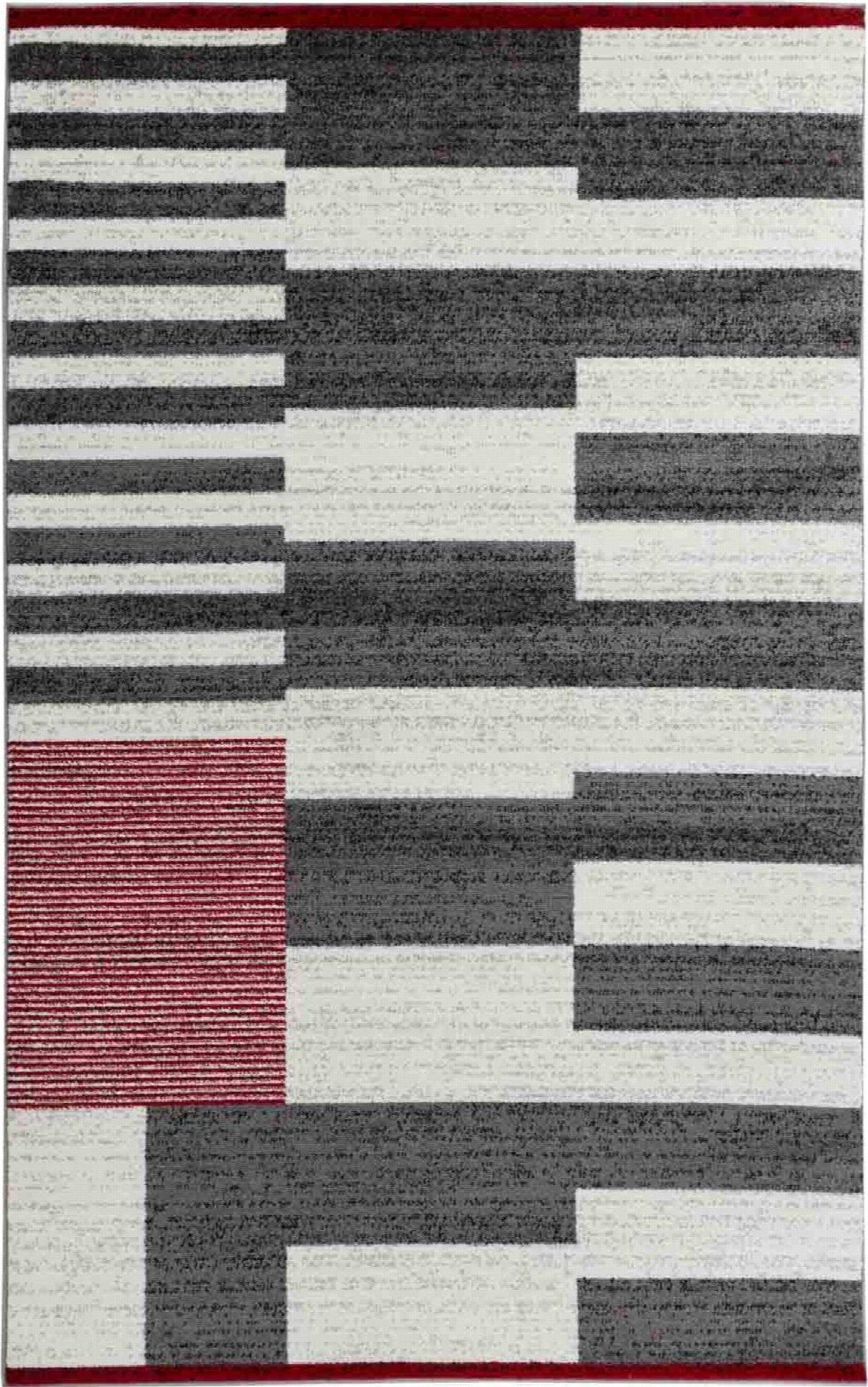 tapis noir rouge