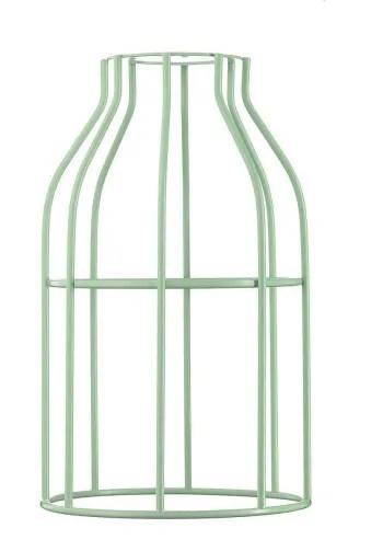 abat jour pour suspension en acier laque vert menthe maisons du monde
