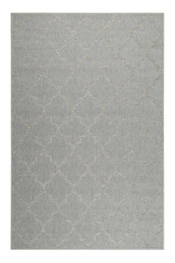 tapis gris motif oriental beige pour entree exterieur 80x150 maisons du monde