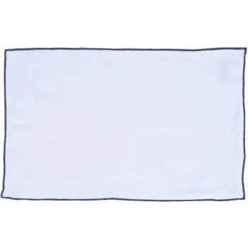 hortense 2x sets de table en lin lave blanc et noir 30x50 cm maisons du monde