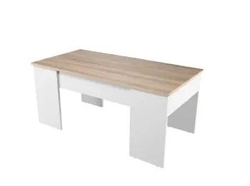 table basse avec plateau relevable blanc bois maisons du monde