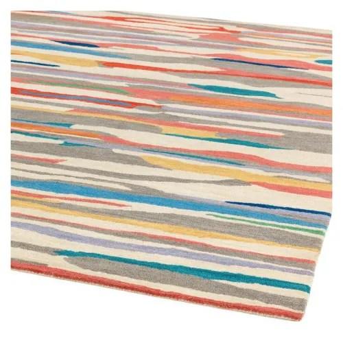 tapis de salon en laine design multicolore 120 x 170 maisons du monde
