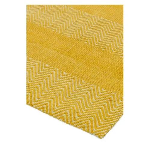 tapis contemporain tisse main jaune 160 x 230 maisons du monde