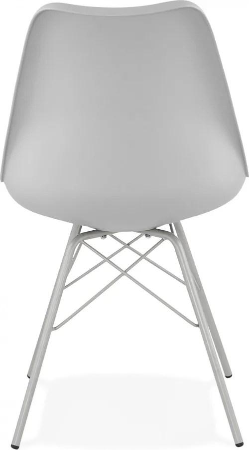 chaise de cuisine rembourree couleur gris maisons du monde