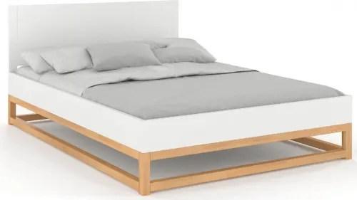 lit avec tete de lit sommier bois massif blanc 140x200cm maisons du monde