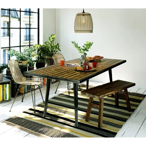 chaise rotin et metal couleur beige maisons du monde