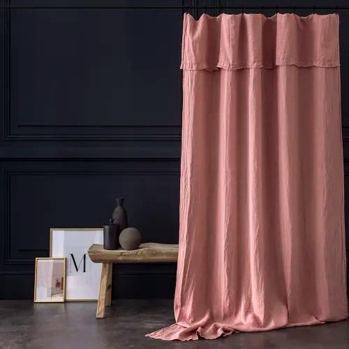rideau lin lave rose masala maisons du monde