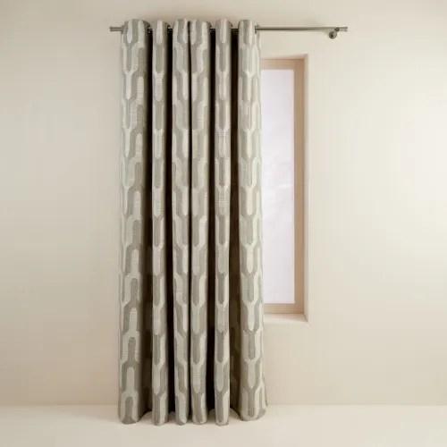 rideau a oeillets 135x280 cm beige dore maisons du monde