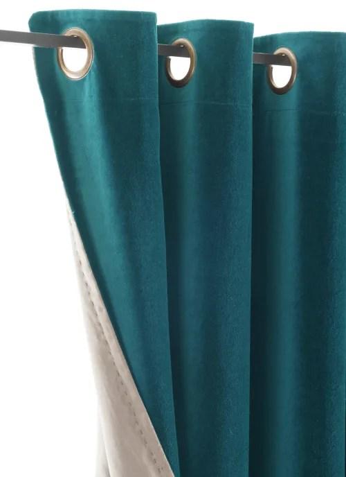 rideau en velours de coton double 135x280 cm canard maisons du monde