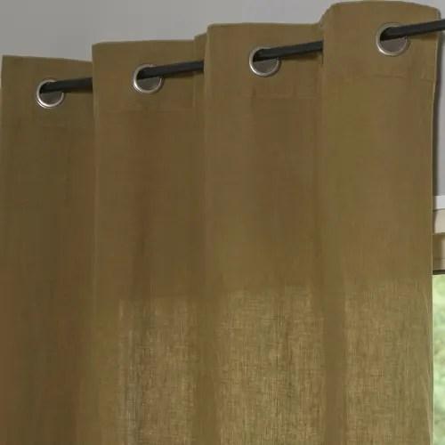 hortense rideau a œillets en lin lave bronze 140x290 cm maisons du monde