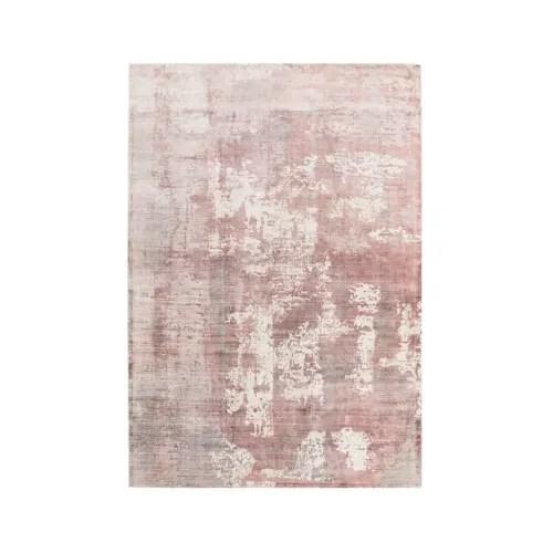 tapis de salon moderne viscose rose poudre 160 x 230 maisons du monde