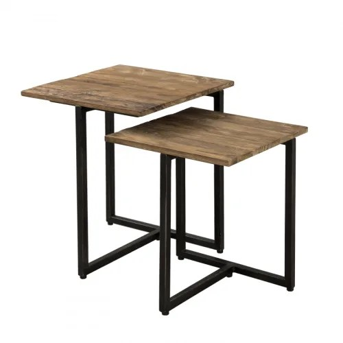 table gigogne carree bois maisons du monde