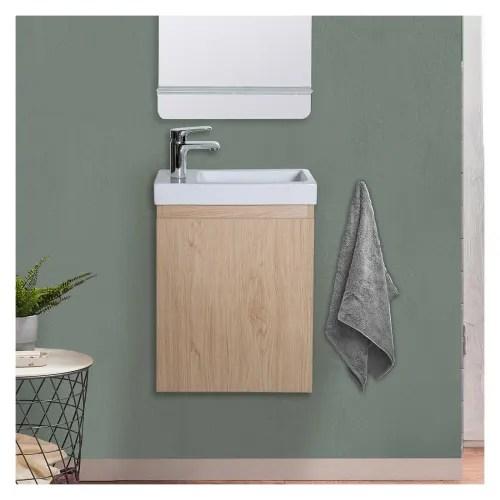 meuble lave mains effet bois clair maisons du monde