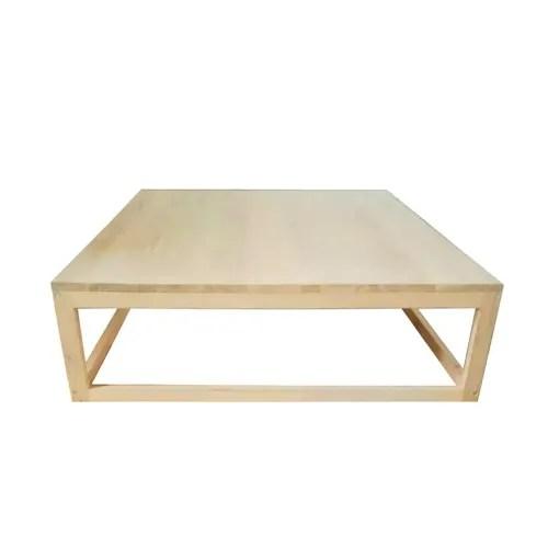 table basse carree en chene bois clair maisons du monde