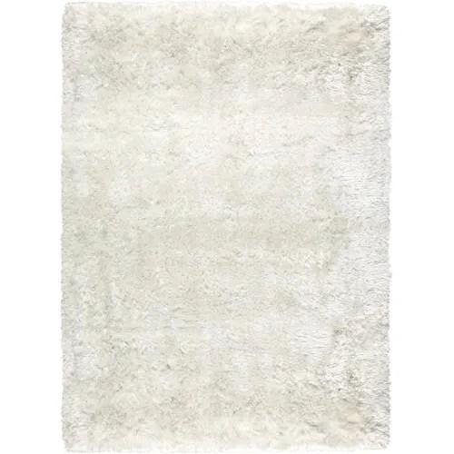 tapis shaggy poils long en polyester blanc 200x300 maisons du monde