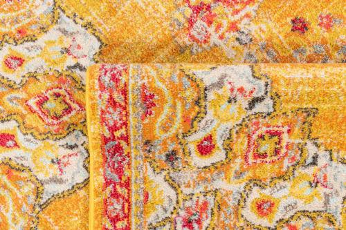 tapis salon vintage en laine artificielle jaune 160x230 maisons du monde