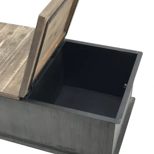 table basse coffre a roulettes style industriel en fer patine maisons du monde