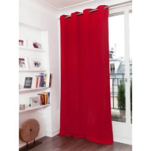 rideau occultant rouge 140 x 260 maisons du monde