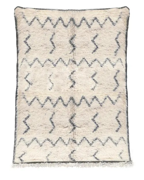 tapis berbere original marocain laine noir blanc medina 160x230 maisons du monde
