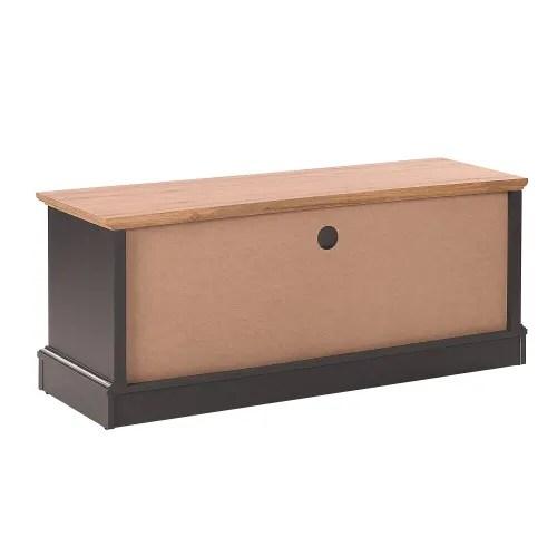 meuble tv gris fonce et bois clair maisons du monde