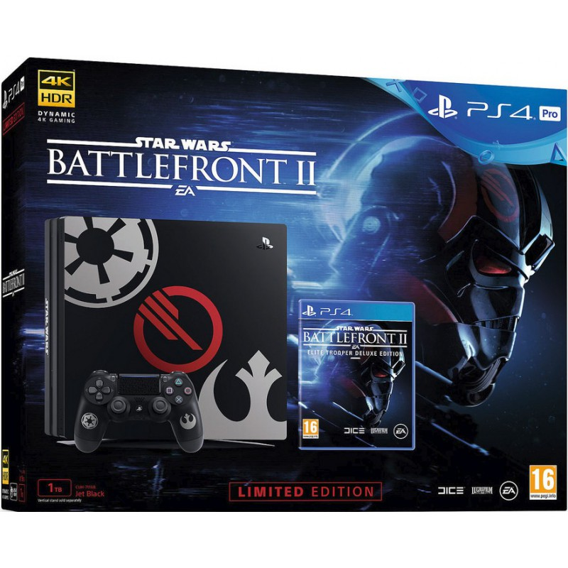 PACK PS4 PRO 1TO NOIRE + STAR WARS BF II EDITION DELUXE
