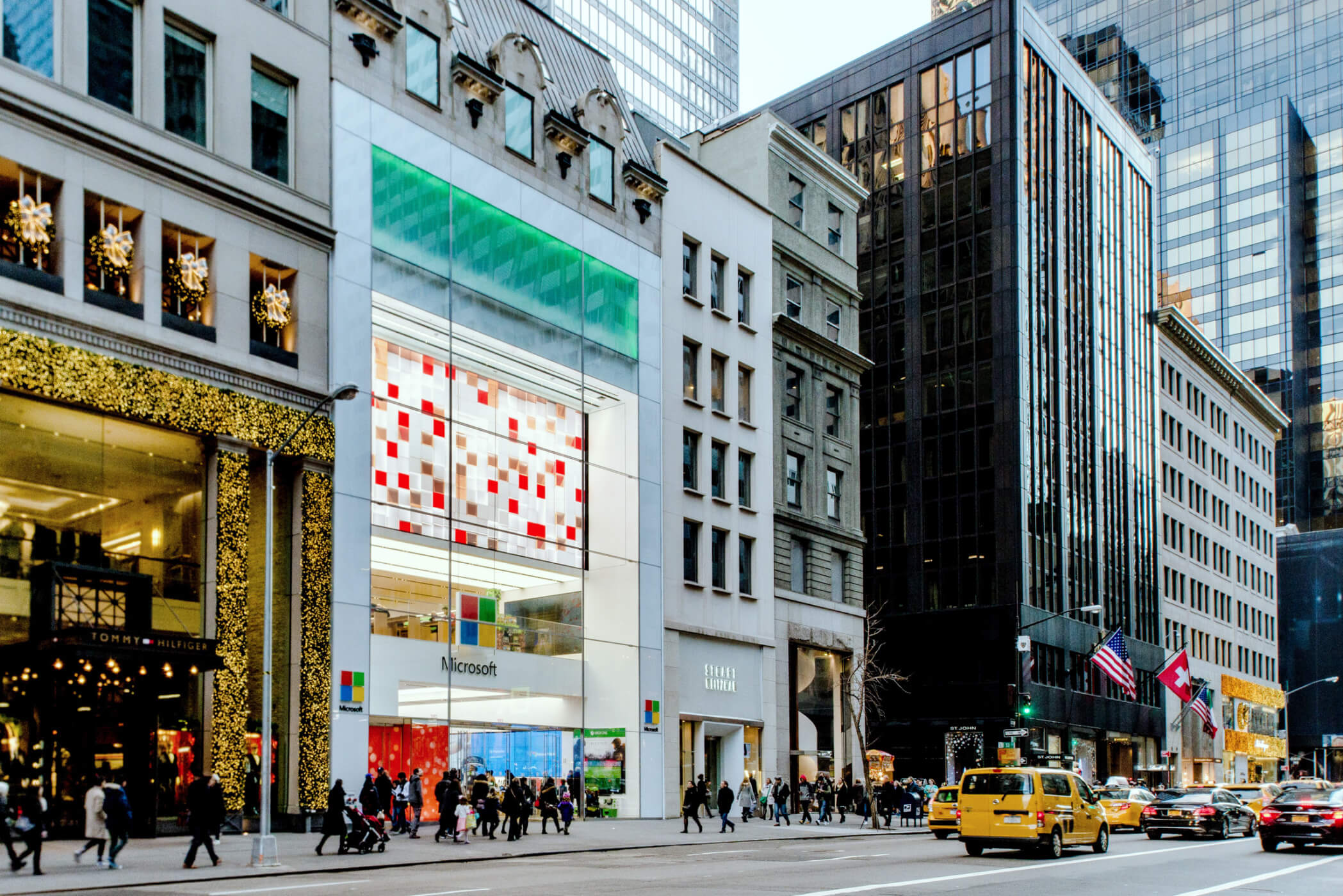 Microsoft Flagship Store In New York Moment Factory