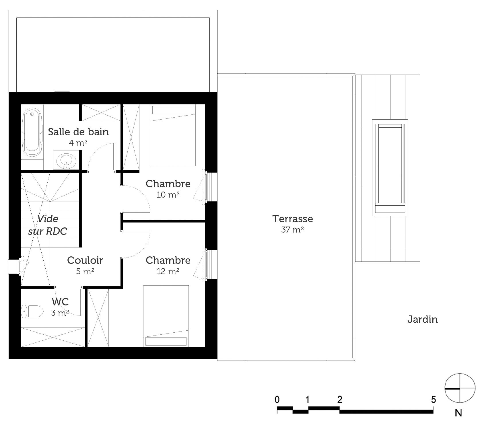plan maison 120 m avec 3 chambres ooreka