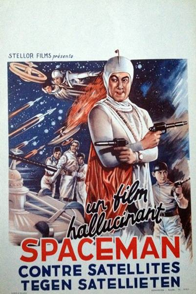 affiche cinema spaceman contre satellites