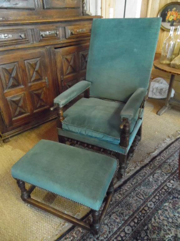fauteuil a cremaillere louis xiii