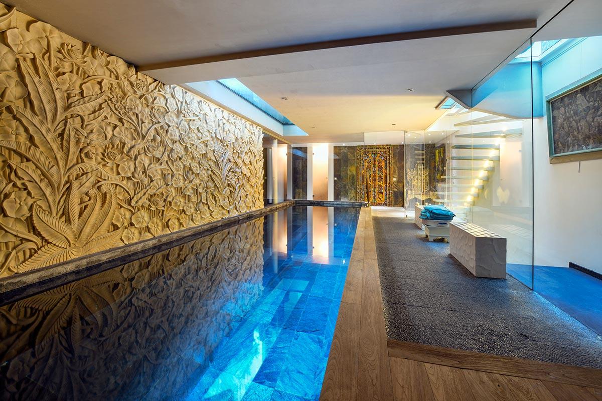 the luxury of an indoor pool