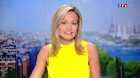 The Yellow Tank Top Worn By Audrey Crespo-Mara In The Journal Of 20 Hours  Of TF1 | Spotern