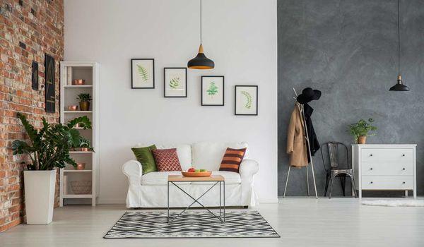 1 un pan de mur colore pour decorer son salon
