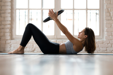 Crunches at home, session 1