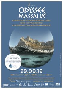 29 Septembre 2019 - 3éme édition Odyssée Massalia. Compétition de natation en eau libre, pour l'environnement, au coeur des calanques de Marseille