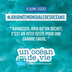 """Journée mondiale des Océans - """"Ramasser, rien qu'un déchet, c'est un petit geste pour une grande cause"""""""