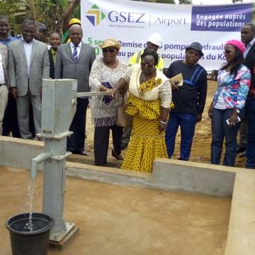 La GSEZ inaugure 25 pompes hydrauliques dans 10 villages du Komo Mondah